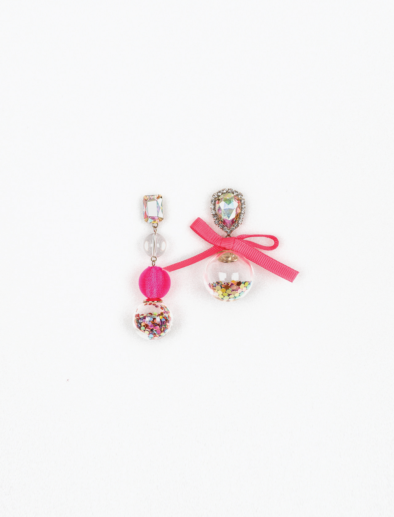 PINK BALL EARRING